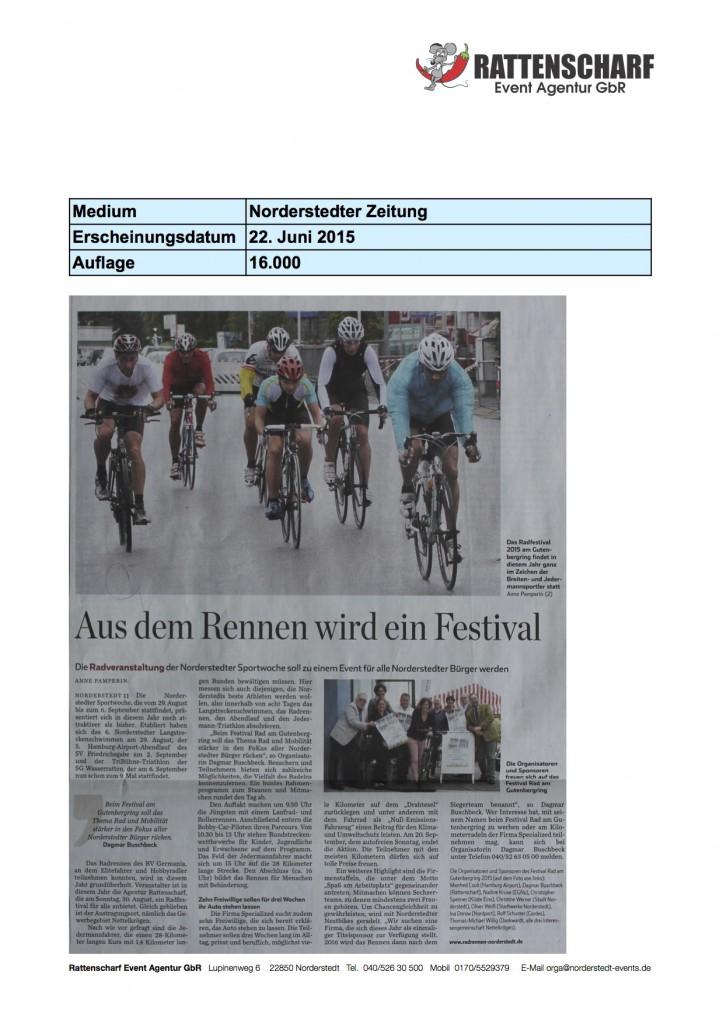Norderstedter Zeitung 22. Juni 2015